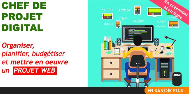 Chef de Projet Digital / Chef de Projet Web -